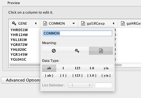 8  Node and Edge Column Data — Cytoscape User Manual 3 7 2